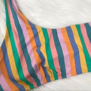J. Crew Swim - {J.Crew} NWT Playa Striped Bikini Top